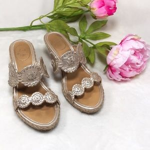 9648019f955b21 ... Jack Rogers Platinum Shelby Wedge Sandals Size 6 ...
